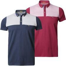 Mens Pique Polo Shirt T-shirt Top Short Sleeve Stripes Cotton Threadbare MMT 117