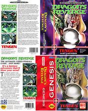 DRAGON'S REVENGE SEGA MEGA DRIVE GENESIS PAL NTSC RICAMBIO BOX ART caso Inserisci tabella