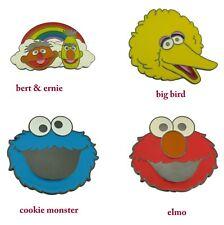 Sesame Street Characters Belt Buckle Elmo Big Bird Cookie Monster Bert Ernie New