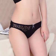Sale Solid Women Underwear Thongs Ladies Briefs Sexy Lace Cotton Women Panties