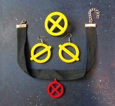 X-Men Jubilee Costume Accessory Cosplay Jewelry Set Earrings Necklace Pin Brooch