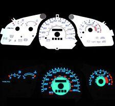 97-02 Ford Escort w/ Tach Blue Indiglo Glow White Gauges 97 98 99 00 01 02