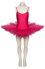 PEONIA ROSA luccicanti paillettes danza Ballet Leotard Tutu Bambino Donna Taglie da Katz