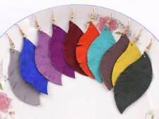 Boho Feather Leaf Shape Feather Drop Earrings for Women Bohemia Boutique Jewelry