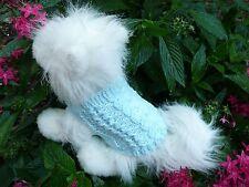 """XXXXS handmade knit blue dog sweater 5.5""""x3.5"""", 5.5""""x4"""" &  5.5""""x4.5"""""""