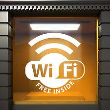 WiFi Pegatina de vinilo Letrero Ventana Instalación Gráfico Cafetería Bar Hotel