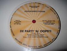 "SEALED RARE REGGAE 12"" JOHUKAMES POSSE DE PARTY 'AL OOPS!! (1986) PRINCE KALUNDA"