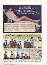 RARE 1936 Ivory Soap Ad / Van Raalte modeling Lingerie