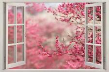 Cherry Blossom 3D Window View Decal WALL STICKER Home Decor Art Mural Trees