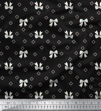 Soimoi Fabric Bow & Diamond Geometric Printed Fabric 1 Meter-GMD-599A
