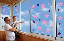 Blumen,Fensterbilder,Fliesenaufkleber,Wandtattoo,Badezimmer,Fenster ,Deko