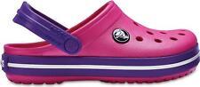 Crocs 204537 CROCBAND CLOG Girls Slip On Ankle Strap Clog Paradise Pink/Amethyst