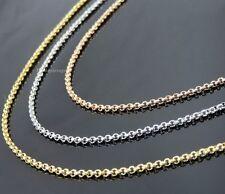 Edelstahl Erbskette 2 mm breit 40-50-60-70-80 cm Halskette Anhänger Rolo Unisex