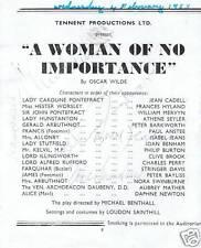 Nora Swinburne, Jean Cadell plus 3 signed Theatre prog.