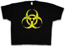 4XL & 5XL BIOHAZARD LOGO T-SHIRT - Cyberhazard Gothic Sign T-Shirt XXXXL XXXXXL