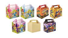 Niños Fiesta temática para llevar cajas de almuerzo Color Favores fiesta de cumpleaños Bolsas