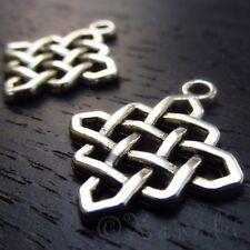 Celtic Knot Charms - Wholesale Quaternary Knot Pendants C2311 - 10, 20 Or 50PCs