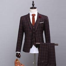 Men's Striped Suit Prom Suit Groom Tuxedos Wedding Bridegroom Suit Custom Made