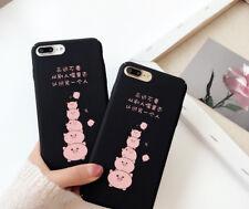 Korean Style iPhone X case Cute Pig iPhone X Case Black iPhone X Case