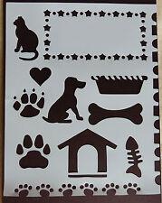 Plastic/PVC/Coated/Paper/Stencil/Multi//Dog/Cat/Bone/Kennel/Paw/Print/NEW