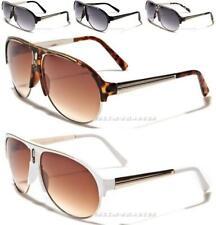 Nuevas gafas de sol diseñador para hombre señoras Vintage Grande Grande Retro Negro Aviador Uv400