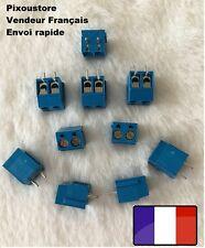 Lot de Bornier à vis bleu droit 2 plots pour CI juxtaposable ! Neufs 2-15