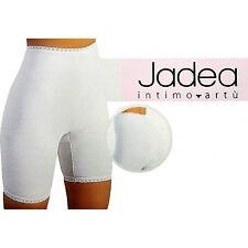 Slip Boxer Donna a Gamba lunga Jadea elasticizzato 4-5-6-7-8-9-10 Bianco ART 526