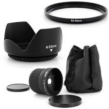 55mm Super Fish Eye 0.18x,Petal Lens Hood for PANASONIC LUMIX DMC-FZ50 DMC-FZ30