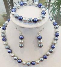 Pretty tribe 10mm Multicolor South Sea Shell Pearl Necklace Bracelets Earrings