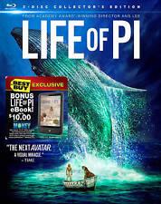 Life of Pi (Blu-ray Disc, 2013, 3-Disc Set, 3D With Ereader Cash for Life of Pi