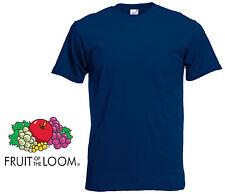 FRUIT OF THE LOOM PLAIN NAVY T SHIRT TEE SHIRT (S TO 5XL) 5 PACK SLIGHT IMPERFEC