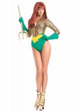 Alluring Aquagirl BW1607 Costume Halloween Mermaid Romper Scale Leotard