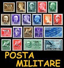 ITALIA ITALY 1942 Posta Militare Serie compl 20v MNH ** e Singoli Italian Reign