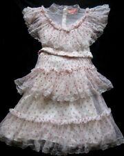 MANOUSH robe femmes robe Dolly wedding en crème-gris clair-rose perdu