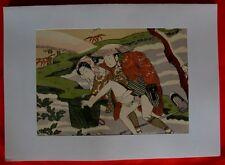 Estampe Japonaise XXè - Erotique - HARUNOBU - Pl.12 - Repro de 1961