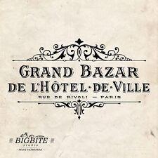 ACQUA Decalcomania Stampa Trasferimento – vintage Hotel de Ville GRAND BAZAR annuncio #062