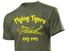 T-Shirt Flying Tigers AVG China 1942 Airforce Pilots USAAF USN USMC WK2 Gr 3-5XL