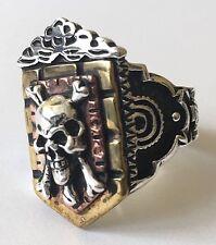 1930s 1940s 1950s Mexican Biker Novelty Art Deco Skull Ring Vintage Rockabilly