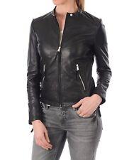 Women's Lambskin Leather Bomber Biker Leather Jacket - XS S M XL XXL XXXL