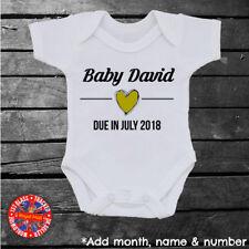 Pregnancy Announcement Baby Grow Vest, Surprise, Personalised, Infants, Newborn