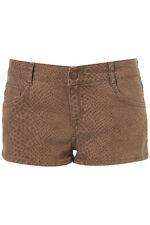 Topshop Ladies Denim Jeans Snake Print Shorts Size 14 16 £34 BNWT Free P&P (AH)