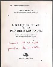 Les leçon de vie de la prophetie des Andes.James REDFIELD.Non corrigée. ES6