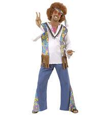 Costume Carnevale Adulto Hippie Woodstock, Anni 60 Hippy PS 19770