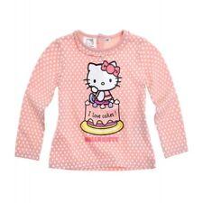 HELLO KITTY  t-shirt bébé 3 6 12 ou 24 mois  corail imprimé manches longues NEUF