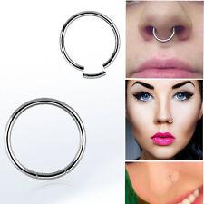 "1-4 Set Segment Ring Seamless 14G Silver 5/16""-3/4"" Captive Bead Ring Septum Lip"