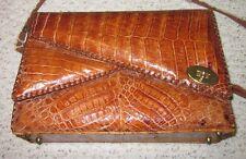 Vintage Genuine Alligator / Crocodile Leather Shoulder Purse / Satchel *Awesome*