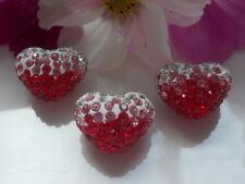 Crystal pedrería Shamballa corazón perlas - 20x16mm-joyas-Design-DIY