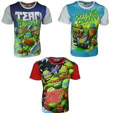 Garçons Ninja Tortues T-shirt à manches courtes Nouveau 2017 Taille 3-8 ans