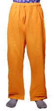 Plain Hemp Cotton Casual Men's Pajama Pants Nightwear Lounge Yoga Trousers