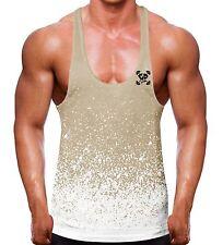 Conquer God Statue Stringer Vest Racer back Y Bodybuilding quote motivation mens
